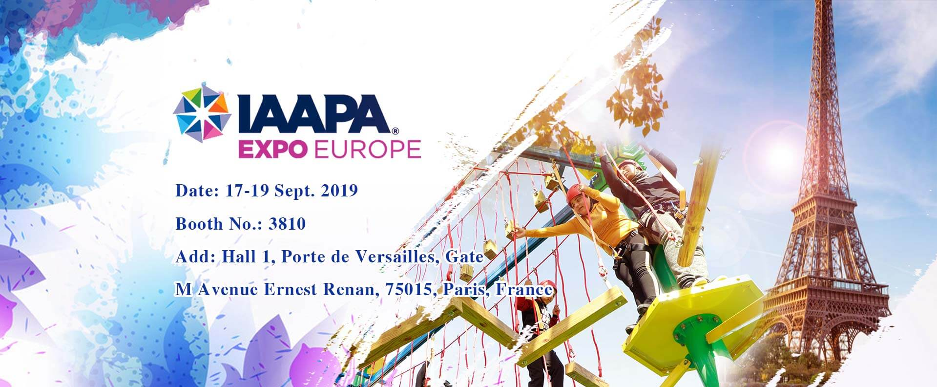 Invitation to IAAPA Expo Europe 2019