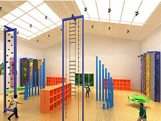 indoor climbing gym climbing wall, build indoor climbing wall for kids, build kids climbing wall for sale, Gym Children's Climbing Wall sale
