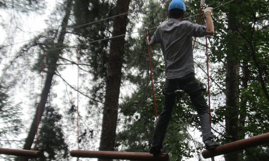 Treetop Challenge Course in Jiuguojing Forest Park, treetop adventure, tree top adventure park