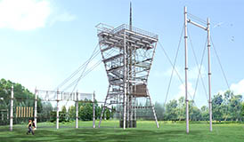 Challenge Tower, adventure tower, high ropes